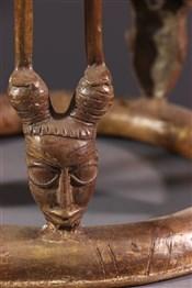 Tabourets, chaises, trônesTabouret de prestige Tikar en bronze