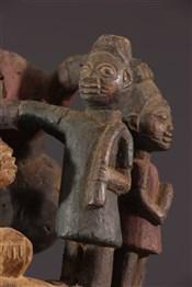 Masque africainMasque cimier Gelede