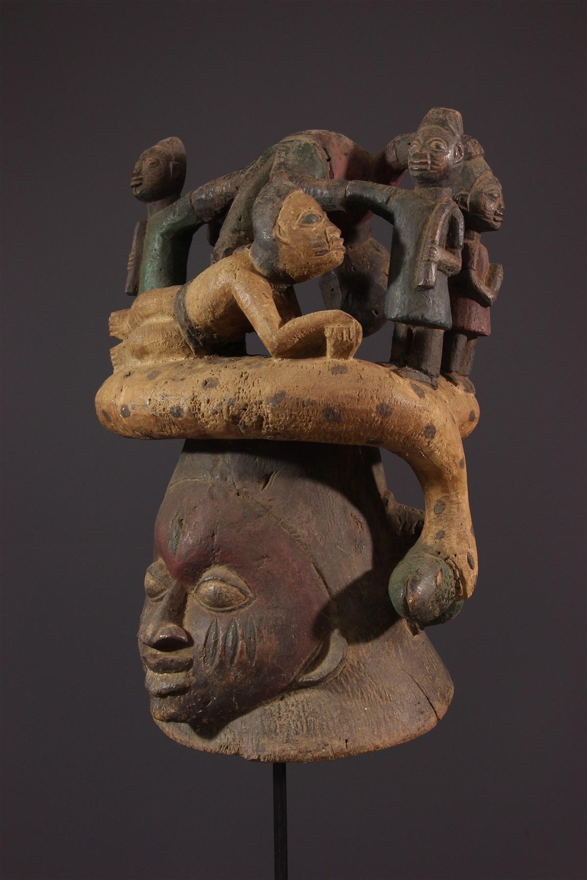 Masque cimier Gelede - Art africain