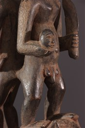 Statues africainesFigure de couple Luba