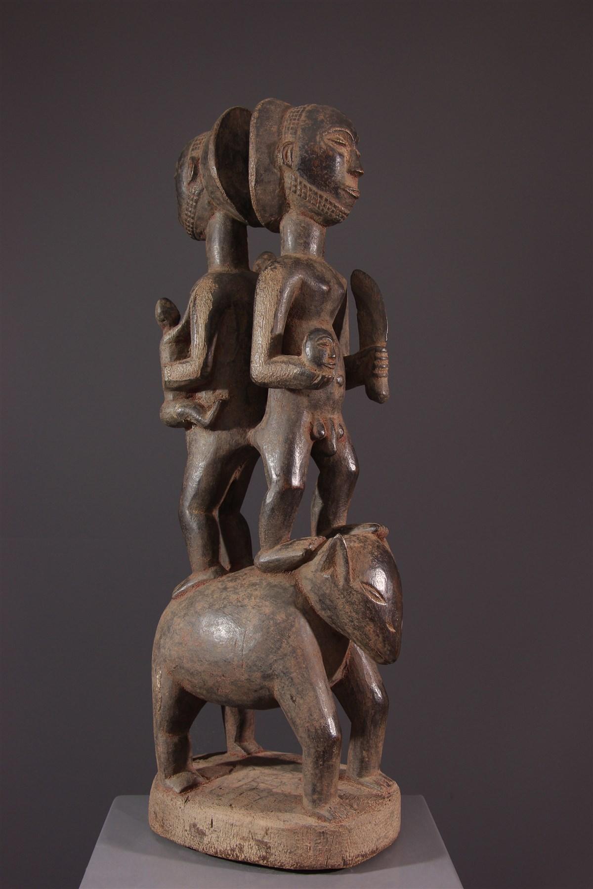 Figure de couple Luba - art africain