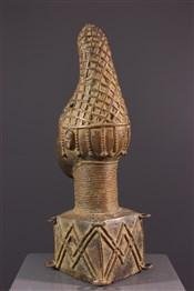 bronze africainTête commémorative reine  Bénin