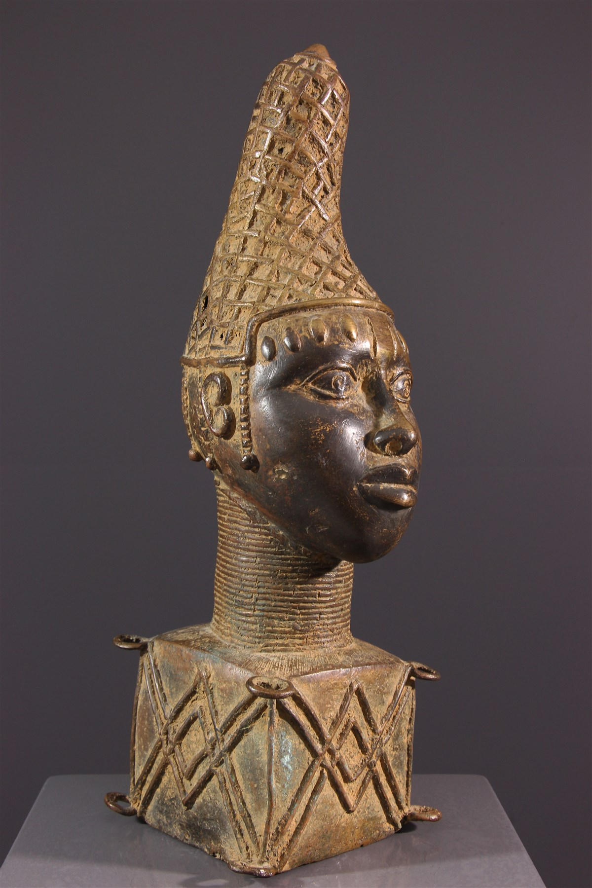 Tête commémorative reine  Bénin - Art africain