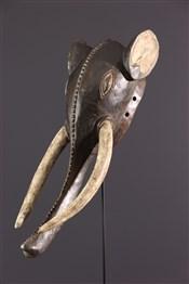 Masque africainMasque éléphant Baoulé/Gouro