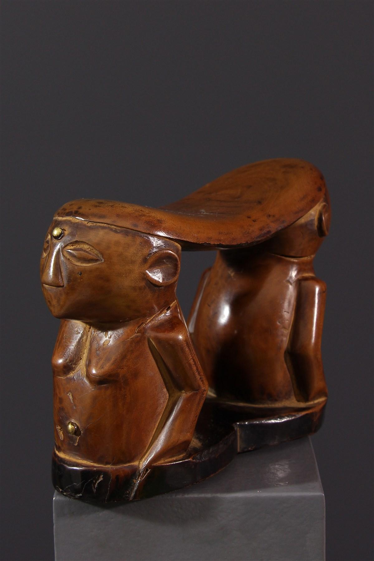 Appuie-nuque Chokwe - Art africain