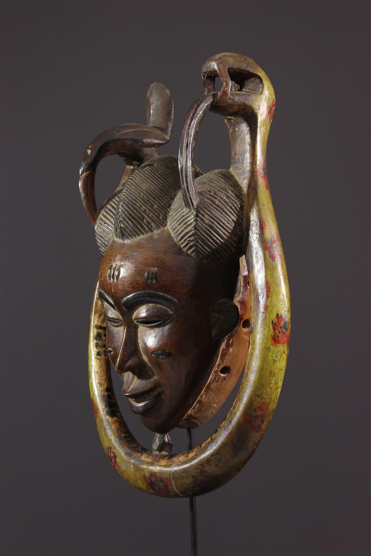 Masque Gouro Gu de la danse Zaouli - art africain
