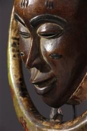 Masque africainMasque Gouro Gu de la danse Zaouli