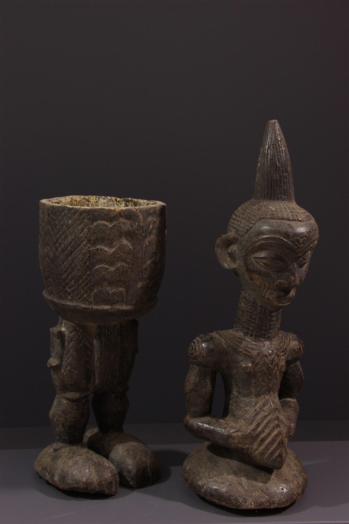 Coupe Lualua anthropomorphe - Art africain