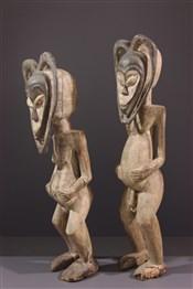 Statues africainesCouple de statues Kwélé
