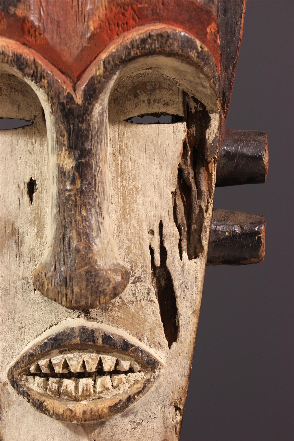 Masque Fang à cornes - art africain