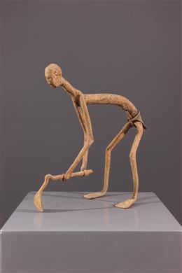 Figure d ancêtre Mumuye en fer noir