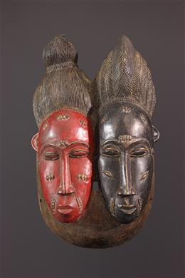 Masque Nda biface Baoulé