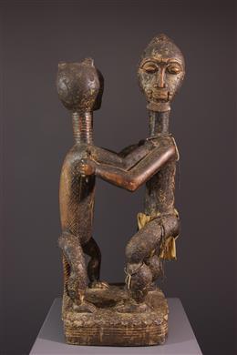 Figure Baoulé anthropo-zoomorphe