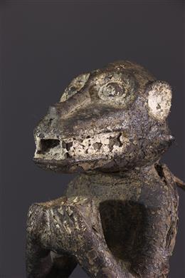 Statue Baoulé singe