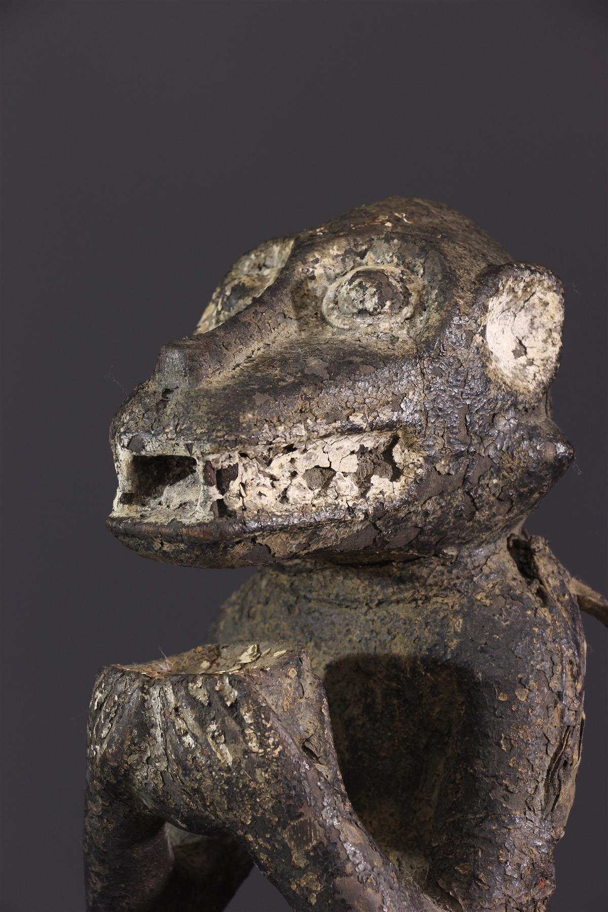 Statue Baoule singe - Art africain