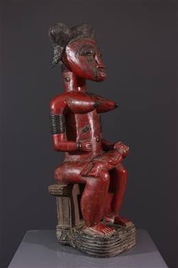 Statue de maternité Baoulé Asye usu