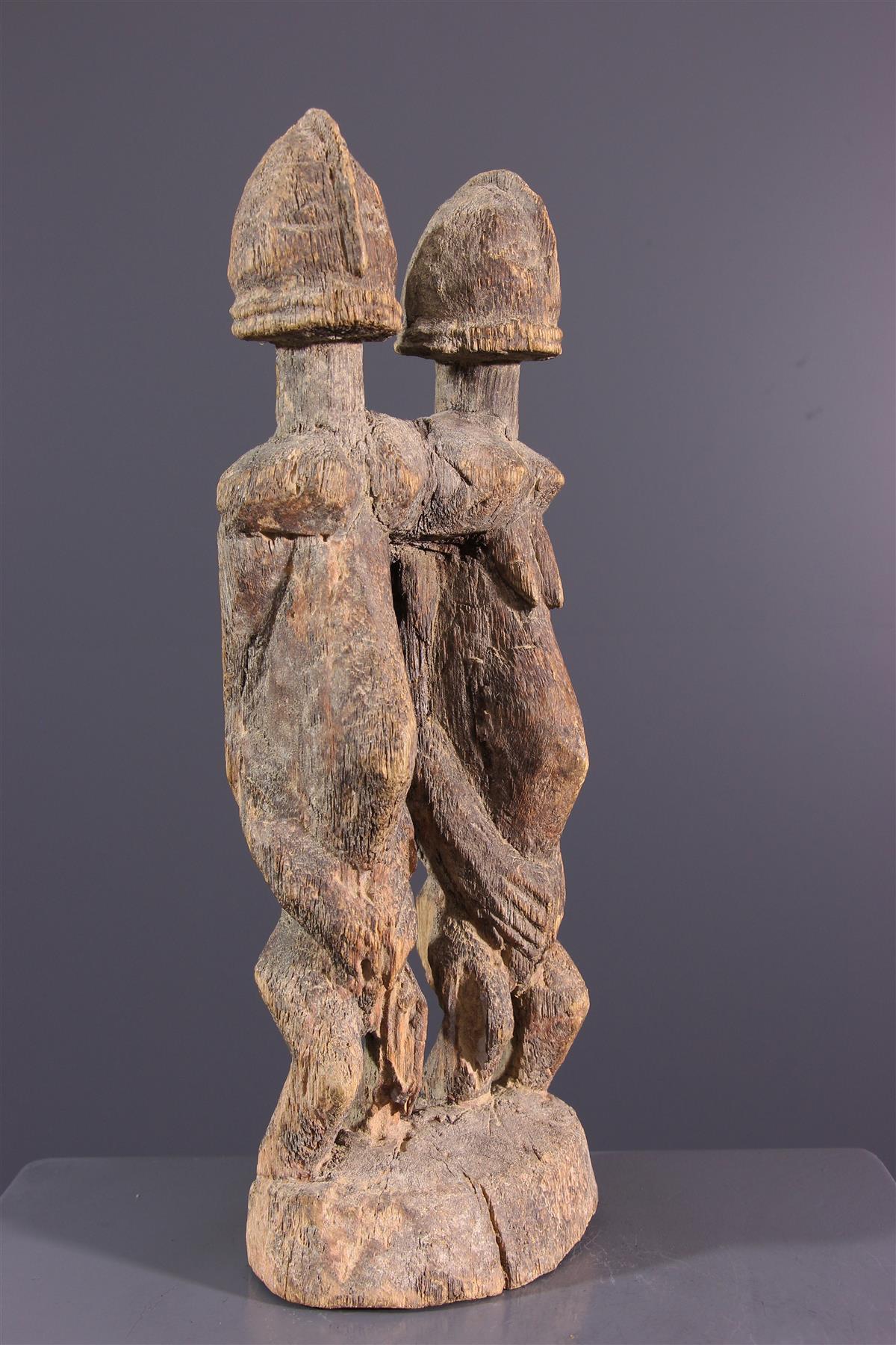 Statue couple Dogon - Art africain
