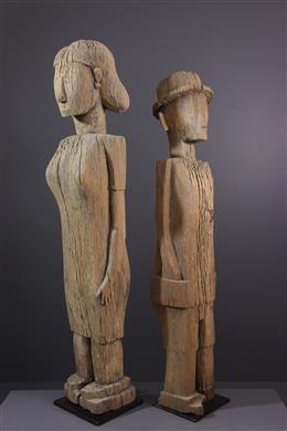 Couple de figures d ancêtres Sakalava