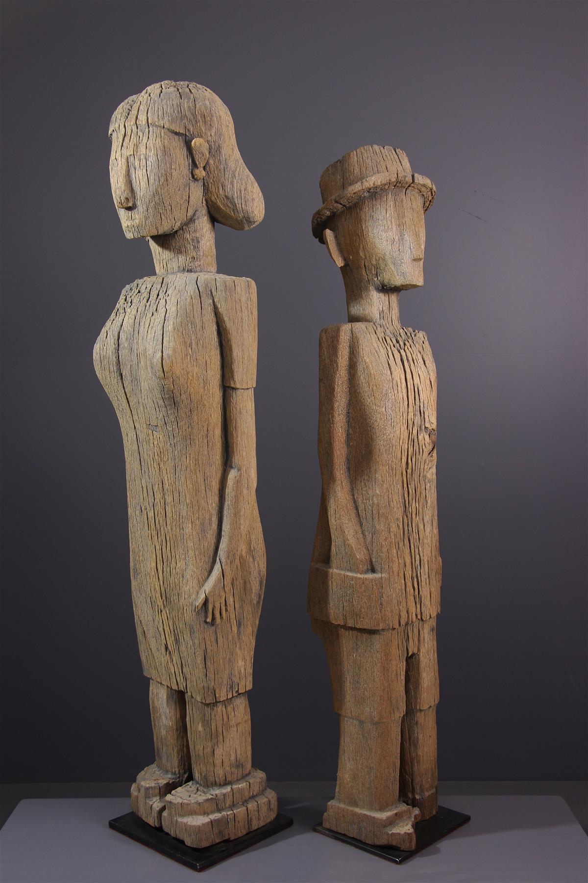 Statues Sakalava - Art africain