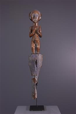 Figure de bâton de commandement Luba Lukesa