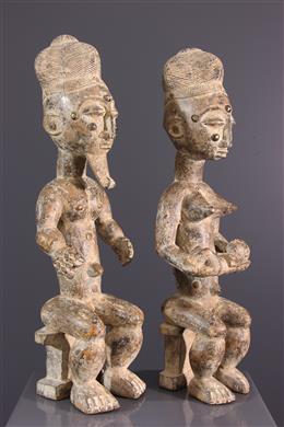Art africain - Couple Ebrié / Attié