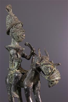 Figure de cavalier Bénin Bini Edo