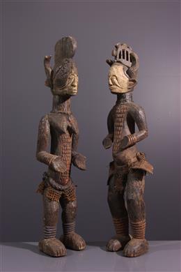 Couple de statues Igbo Alusi