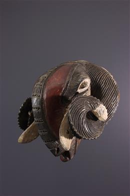 Masque Baoulé bélier
