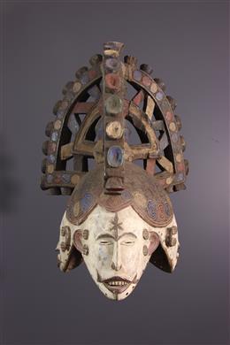 Masque cimier Igbo Agbogo Mmwo