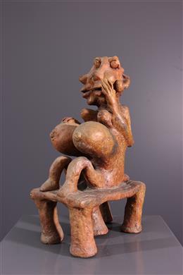 Statuette en terre cuite Diola