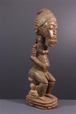 Grande statue Baoulé Asye usu