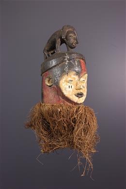 Masque cimier Pende/ Holo polychrome