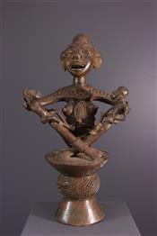 bronze africainStatue Tikar