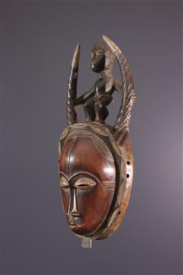 Masque africain Baoulé Ndoma