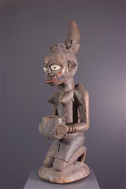 Statue porteuse de coupe Yoruba