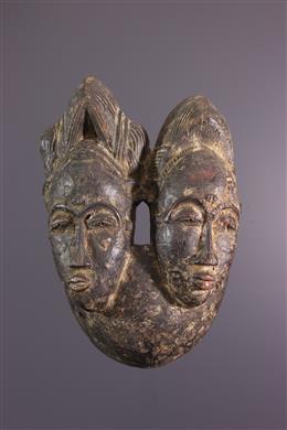 Masque Baoulé Nda Biface