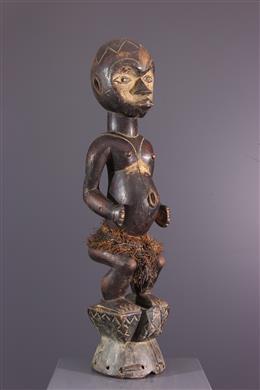 Statue cimier Ibibio Eket  de la danse Ogbom