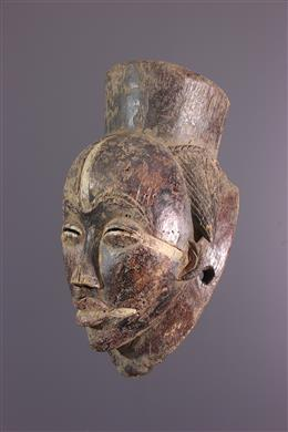 Masque noir Punu Ikwara