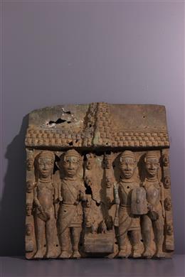 Plaque bronze bénin Edo
