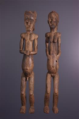 Couple de statues Eyema Fang Byeri
