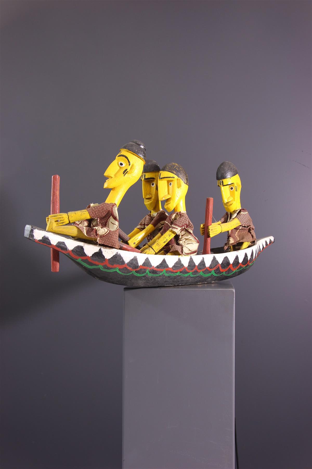 Pirogue Bozo - Art africain