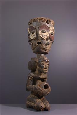 Art africain - Tambour Luba Mboko