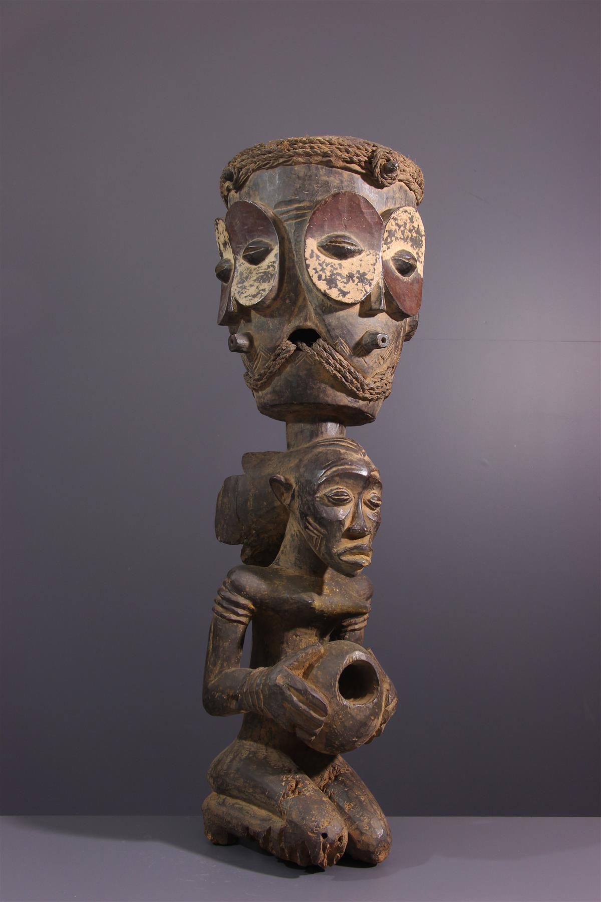 Tambour Luba - Art africain
