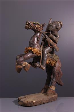 Figure de cavalier Bamoun