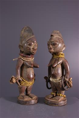 Couples de jumelles Ibedji Yoruba