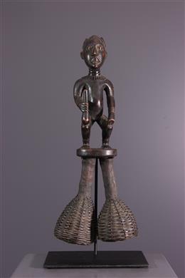 Sonnailles hochet rituel  Bamileke Bangwa