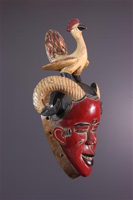 Masque Gouro gu de la danse Zaouli