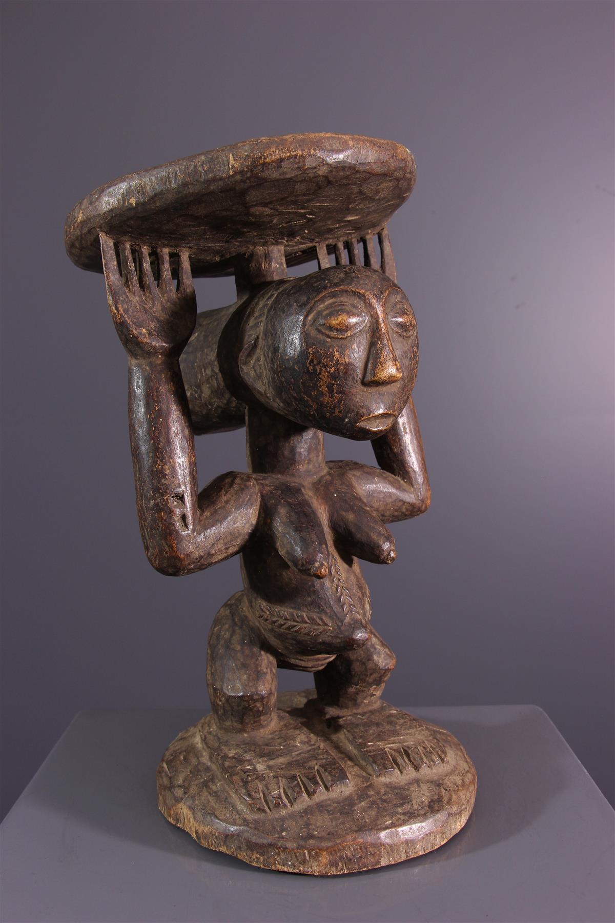 Tabouret Luba - Art africain