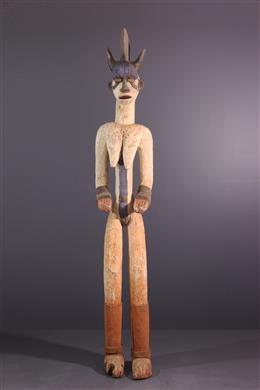 Figure de divinité Igbo Alusi, Agbara, polychrome