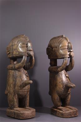 Couple de statues Baga Nimba
